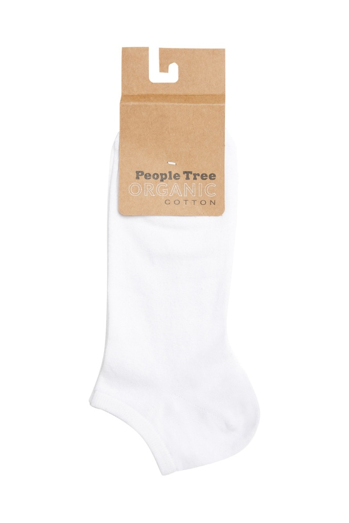 Organic Cotton Trainer Socks - White