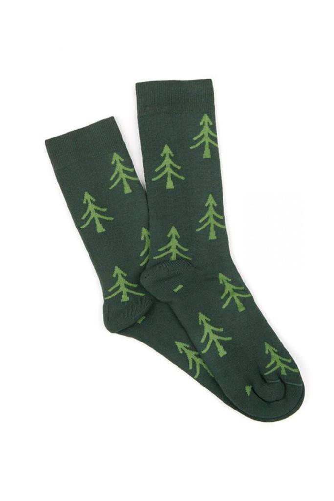 Polar Tree Socks - Green - 36-41