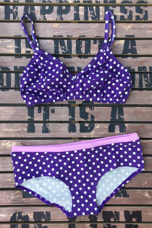 Soft Bralette - Purple Polka Dot