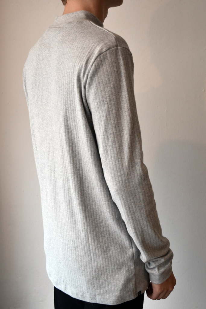 Rib Turtle Neck - Grey Melange