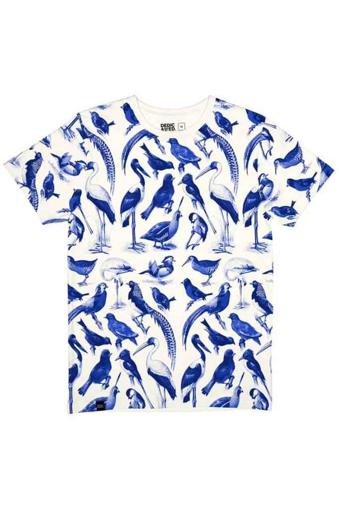 Blue Birds - Off White