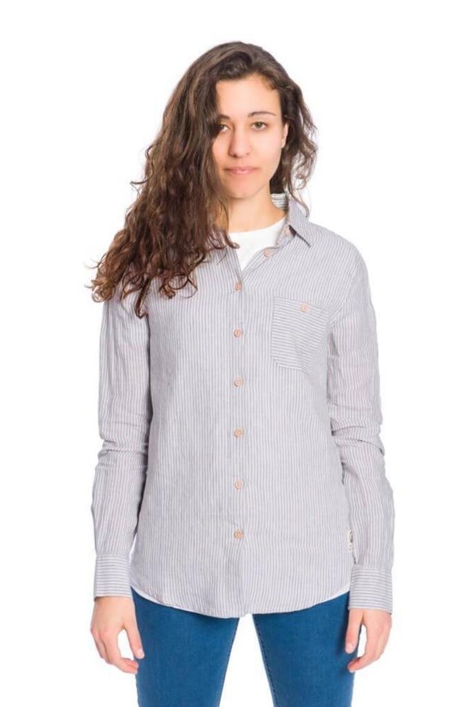 Striped Linen Shirt Ladies