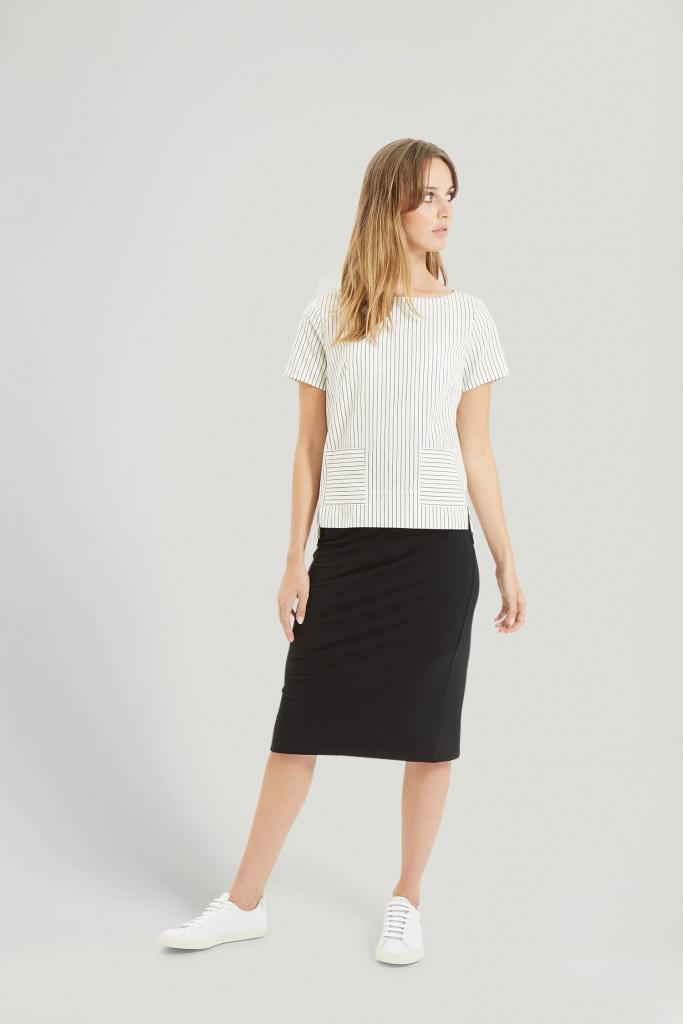 Tammy Pencil Skirt - Black