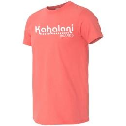Kahalani t-shirt logo Coral Silk