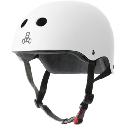 Triple 8 Helmet Certified Sweatsaver White