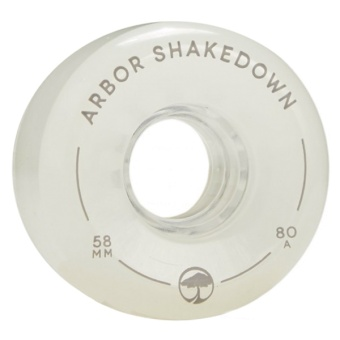 Arbor 58mm 80A Shakedown Ghost White