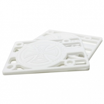 """Independent Hard Riser pads 1/8"""" white"""