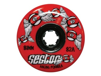 Sector9 81mm Freeride 82A (Röd)