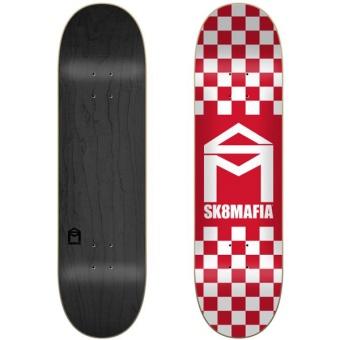 Sk8mafia 8.25 House Logo Checker Red deck