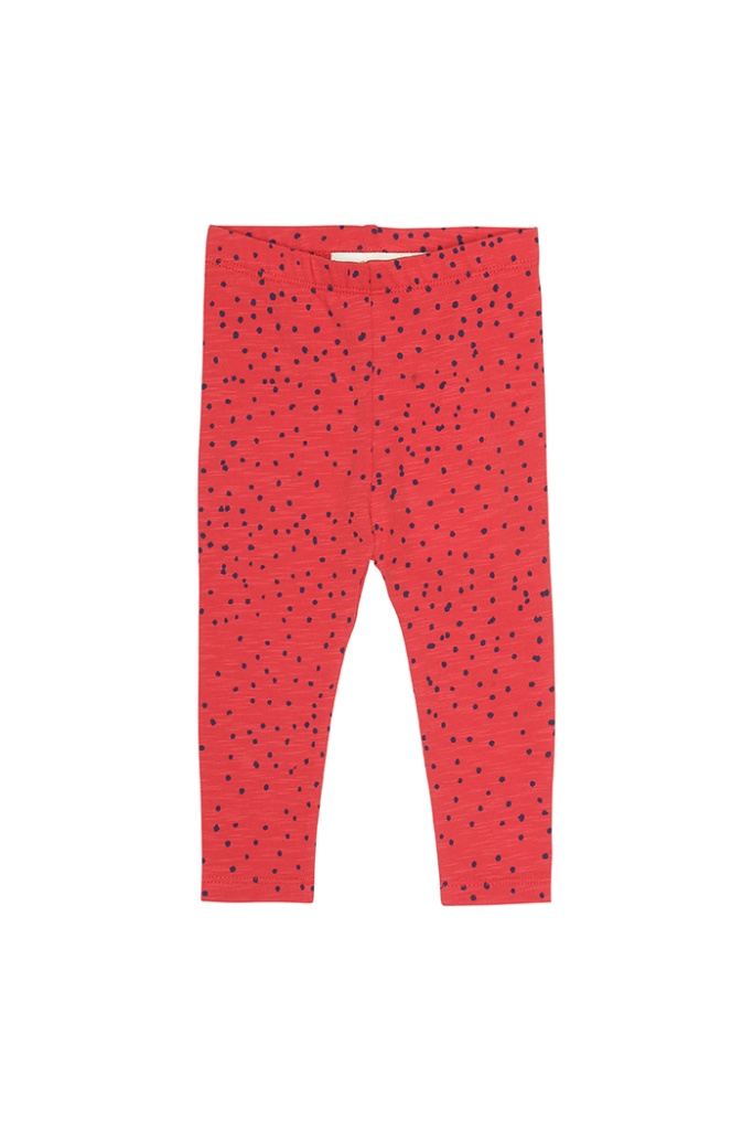 Baby Leggings Mini dots, Red