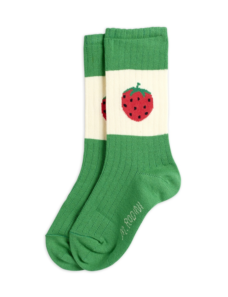 Strawberry ribbed socks Green - Chapter 1