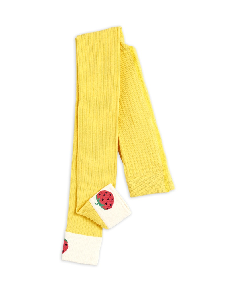 Ribbed strawberry leggings Yellow - Chapter 1