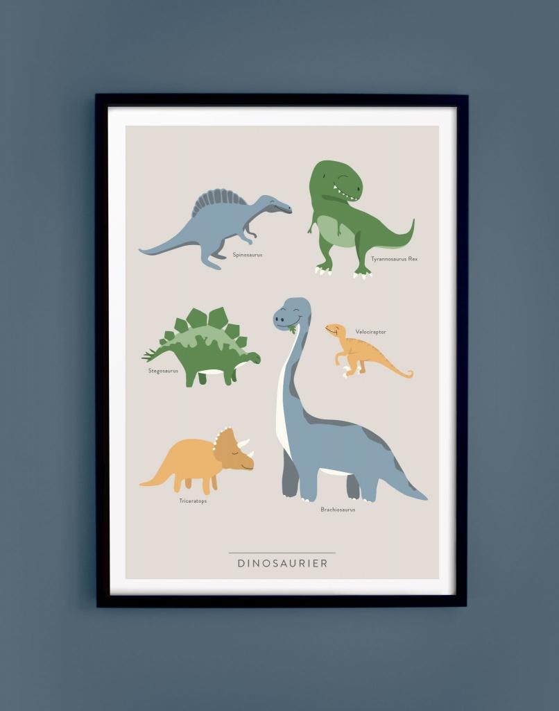 Dinosaurier 50 X 70 Cm Utan Ram