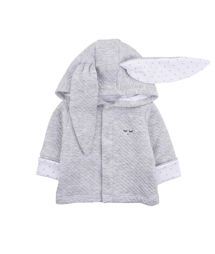 BUNNY CARDIGAN grey / white saturday