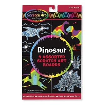 SCRATCH ART - Dinosaurier