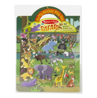 Puffy Sticker Play Set - Safari