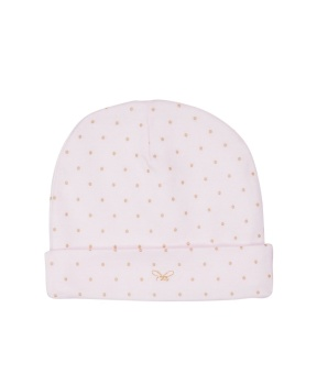 Saturday Ninni Hat pink/gold dot