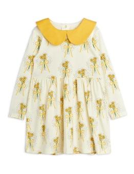 Winterflowers aop ls dress -Yellow  Chapter 1
