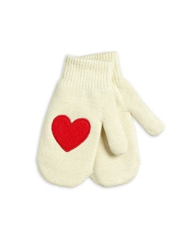Heart knitted mittens offwhite - Chapter 3