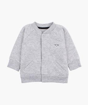 Bomber cardigan melange grey
