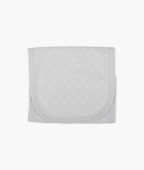 Saturday burp blanket grey/white dots