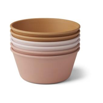 Greta bamboo bowl 6-pack  Rose multi mix