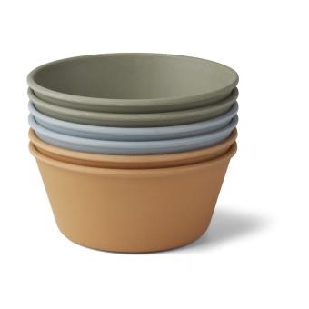 Greta bamboo bowl 6-pack  Blue mix multi mix