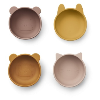 Iggy silicon bowls rose  mix, 4 st