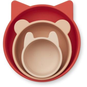 Eddie bowls 3-pack Apple red/rose multi mix
