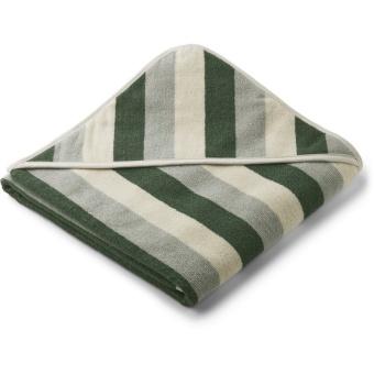 Louie hooded towel Green