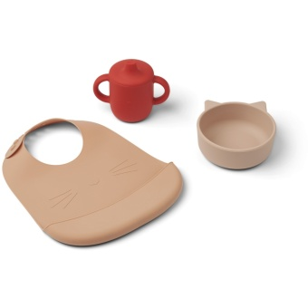 Connor baby dining set Cat apple red multi mix