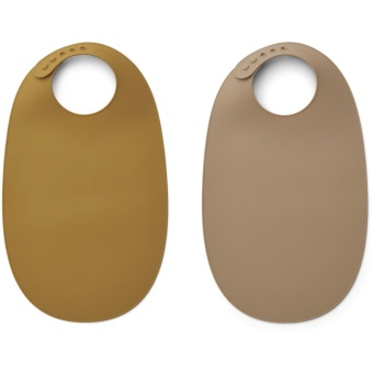 Ilana bib 2-pack Golden caramel oat mix