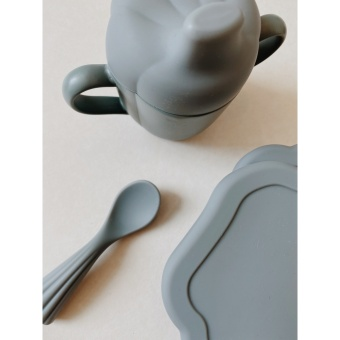 SILICONE CLAM SET LIGHT BLUE