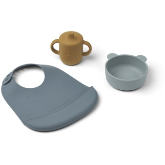 Connor baby dining set Mr bear blue multi mix