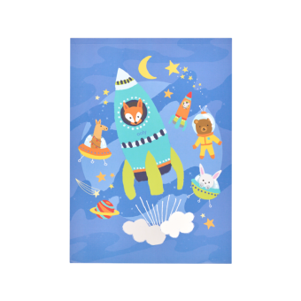 Ooly space critters reusable sticker scenes