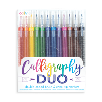 Calligraphy Duo Chisel and Brush Tip Markers, 12 st