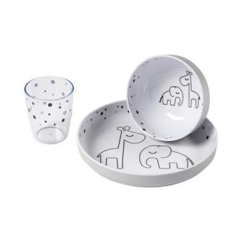 Yummy Mini Matset Dreamy Dots - Grey