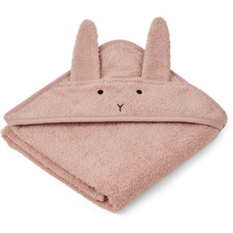Albert hooded towel, kanin rose