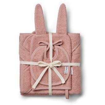 Presentförpackning Frotté Baby Set Kanin rose