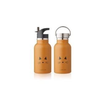 Vattenflaska Katt Mustard
