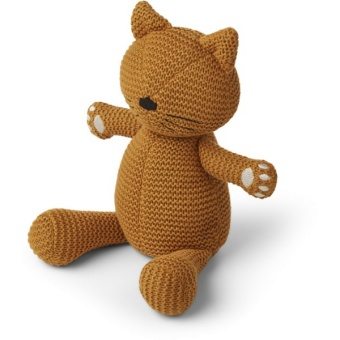 Missy knit teddy Cat mustard