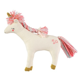 'Unicorn' stickat gosedjur - Off white