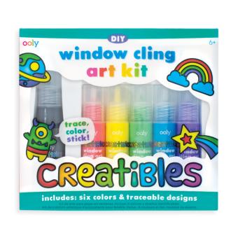 WINDOW CLING ART KIT 6 COLORS