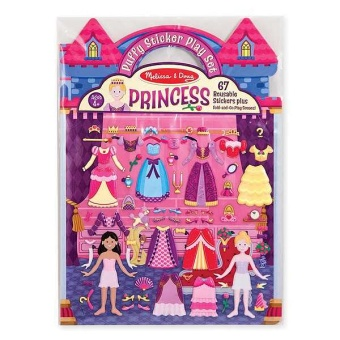 Reusable Puffy Stickers - Princess