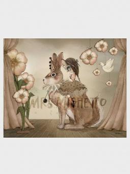 Mrs Mighetto -Miss Poppy 50x40