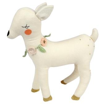 'Deer  Cushion' stickat gosedjur - Off white