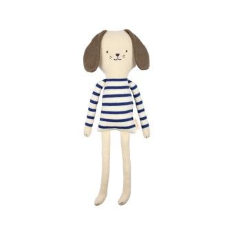 Knitted dog' gosedjur - Randig