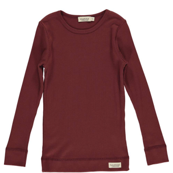 Wine Plain Tee LS/Wine