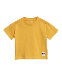 Solid cotton ss tee - Yellow