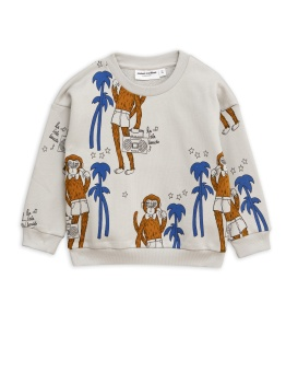 Cool monkey aop sweatshirt -/ Grey
